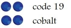 19 5mm cobalt/dk blue +/-75 stuks