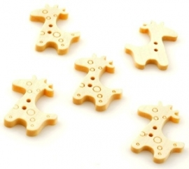 knoopjes giraffe 6 stuks