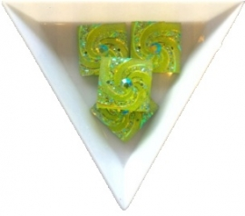 opnaaisteen square lime 18mm 4 stuks