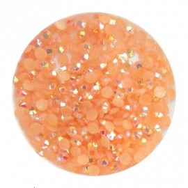 resin ab peach 2mm 800 stuks