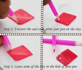 sorteerbakje met picker pen en wax