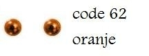 62 2mm domestuds oranje 200 stuks + 200 gratis
