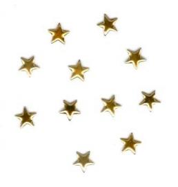 ster goud 6mm 100 stuks