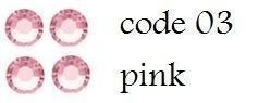 03 3mm pink +/-400 stuks