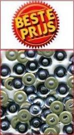 hotfix donut zilver 8mm +/- 75 stuks