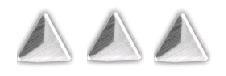 driehoekje zilver +/- 40 stuks