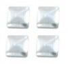 vierkant zilver 3x3mm 100 stuks