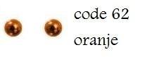 62 4mm domestuds oranje 100 stuks