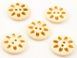 knoopjes bloem rond 6 stuks