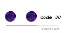 80 4mm studs cobalt violet 100 stuks