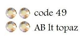 49 4mm AB lt topaz +/- 175 stuks
