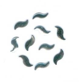 1 hotfix curve zilver 9x5mm 100 stuks
