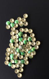 pearly domes green 4mm 100 stuks