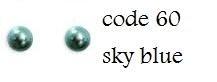 60 4mm domestuds sky blue 100 stuks