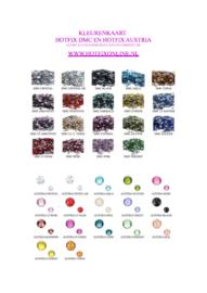 kleurenkaart DMC en AUSTRIA excellent steentjes