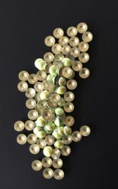 pearly domes lt yellow green 4mm 100 stuks