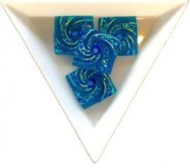 opnaaisteen square blue 18mm 4 stuks