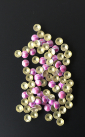 pearly domes pink 4mm 100 stuks
