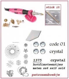 Mega startersset crystal super de luxe dual power applicator