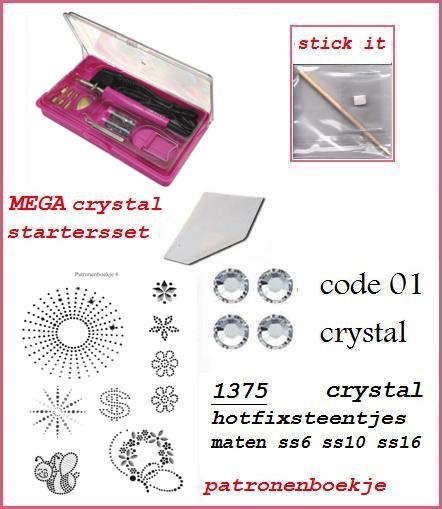 mega startersset crystal applicator set