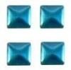 vierkant blauw 3x3mm 100 stuks