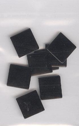 big square zwart 1cm - 20 stuks