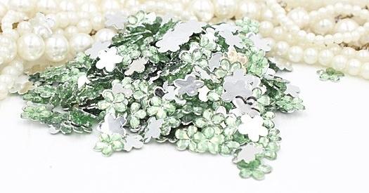 flowers lt green 9mm 40 stuks
