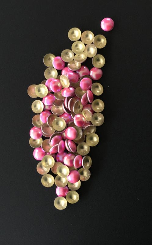 pearly domes roze 4mm 100 stuks