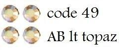49 3mm AB lt topaz +/-400 stuks