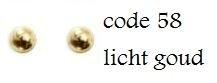 58 4mm domestuds  licht goud 100 stuks