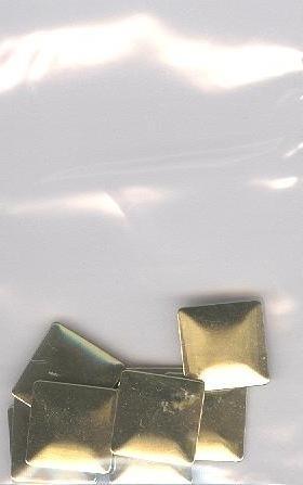 big square lt goud 1cm - 20 stuks