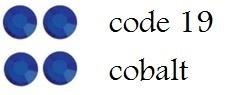 19 3mm cobalt/dk blue +/-400 stuks
