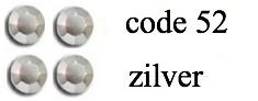 52 2mm zilver +/- 800 stuks