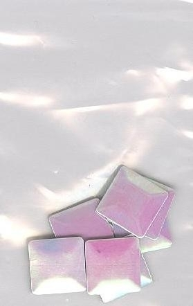 big square AB wit 1cm - 20 stuks