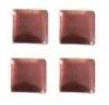 vierkant rose/sienna 3x3mm 100 stuks