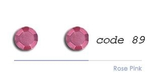 89 2mm studs rose pink 200 stuks + 200 gratis
