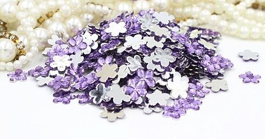 flowers purple 9mm 40 stuks