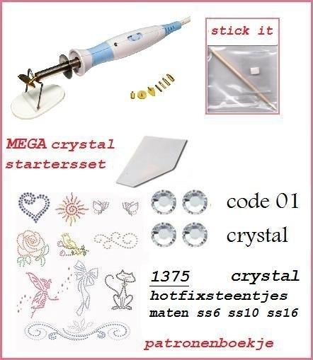 Mega startersset crystal dual power applicator