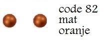 Nieuw! 82 3mm domestuds mat orange 200 stuks