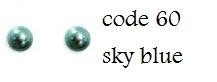 60 3mm domestuds sky blue 200 stuks