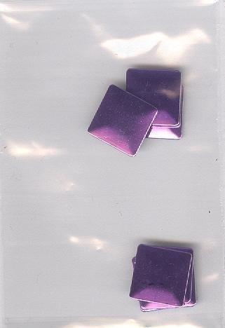 big square purple 1cm - 20 stuks
