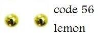 56 4mm domestuds lemon 100 stuks