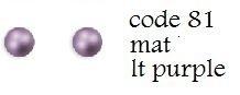 Nieuw! 81 3mm domestuds mat lt purple 200 stuks