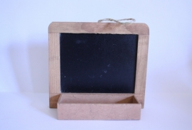 houten schoolbordje
