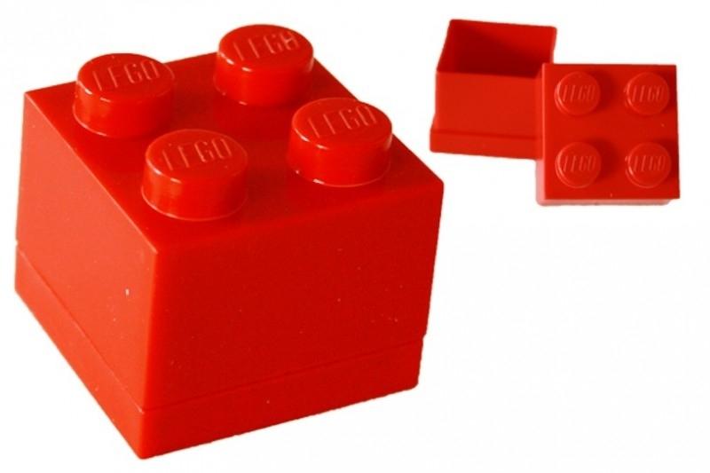 Lego doopsuiker doosje rood