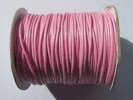 Waxkoord 2 mm Pink W024 (per meter)