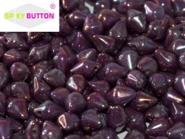 Spiky Button 4,5 x 6,5 mm Chalk White Iris (per 25)