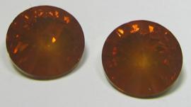 Resin Rivoli 16 mm Dark Topaz Opal (per 2)