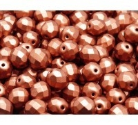 Fire Polished 6 mm Bronze Red Mat (per 24)
