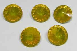 Resin Rivoli 8 mm SS39 Yellow Opal (per 5)